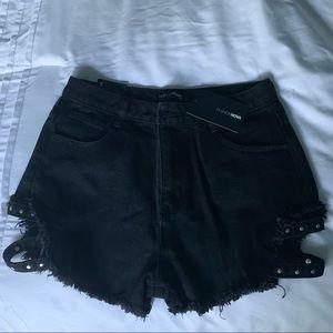 Fashion Nova Black Denim Shorts